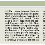 Quotidiano Il Cittadino - Cene artistiche, Casalpusterlengo